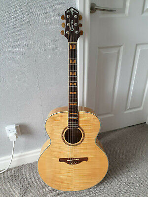 Crafter J-9 Jumbo Acoustic Guitar and Case. Korea !!!MINT!!!