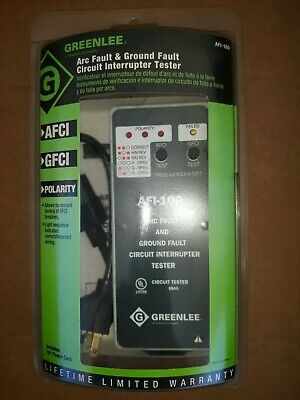 Greenlee Afi-100 Arc Ground Fault Circuit Interrupter Tester