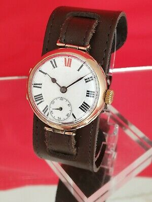 Men`s Solid 9ct Gold Trench Watch(1914) - SERVICED!