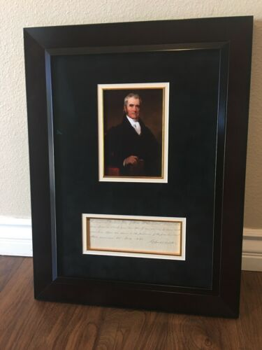 Signed letter by Supreme Court Chief Justice John Marshall from 1823 Framed Rare