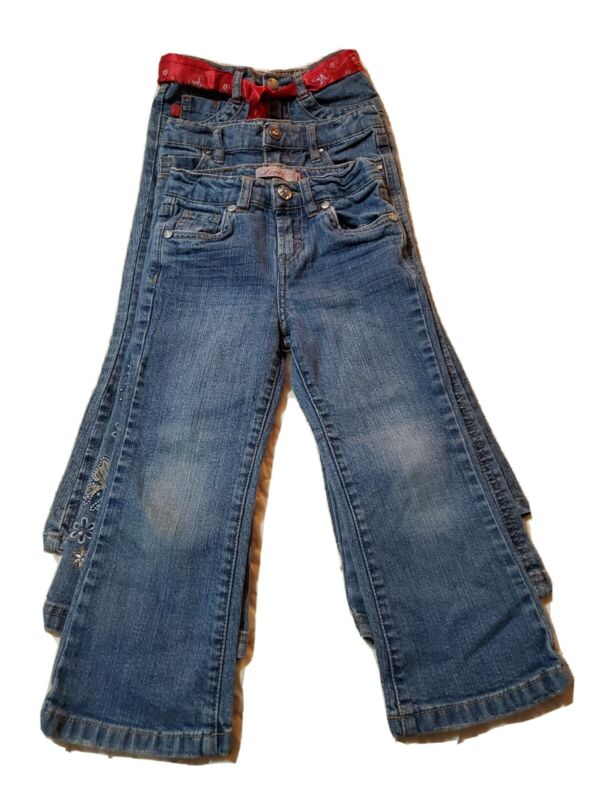 Lot Of 3 Girls 4t Blue Jeans