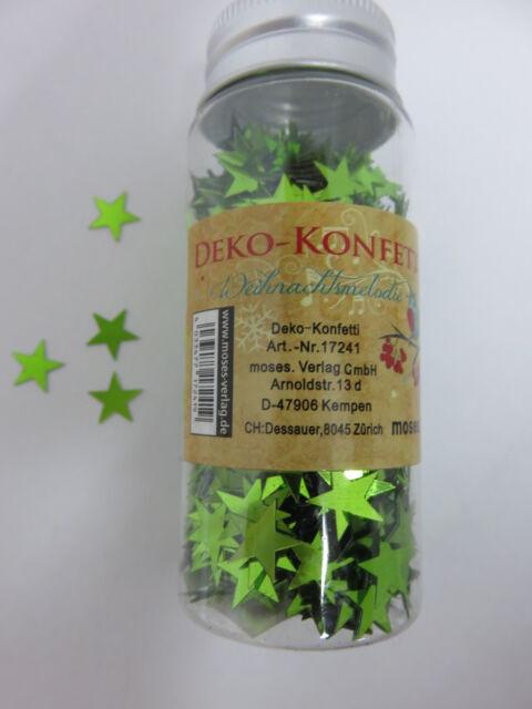 Deko Konfetti - Weihnachtsmelodie * Fb grün - Sterne  * 17241