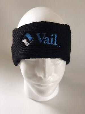 6bbd0ad116154d Vintage 80's Vail Ski Resort Headband Hat Black Brand New With Tags