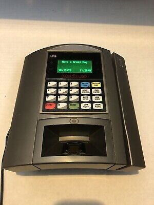 Ceridian Ats Maximus Timeattendance Time Clock Biometric Scanner Badge Reader