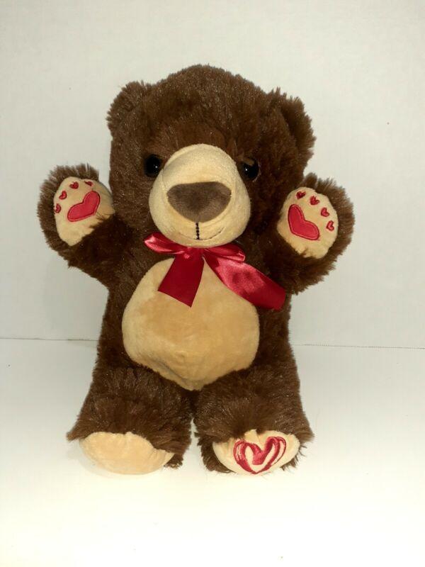 Kelly Toy Teddy Bear Valentines Day Love Brown Plush Stuffed Animal 14 Inch Gift