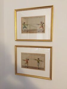 Two French early 18th century fencing engravings