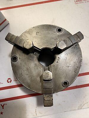 6 Cushman Chuck Co. 3 Jaw Lathe Chuck Reversible Jaws No. 3506 Metal Lathe