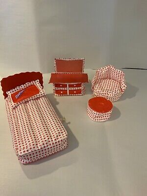 Vintage BARBIE PUFF & PLAY Inflatable Blow Up FURNITURE 1970's Bedroom Hearts