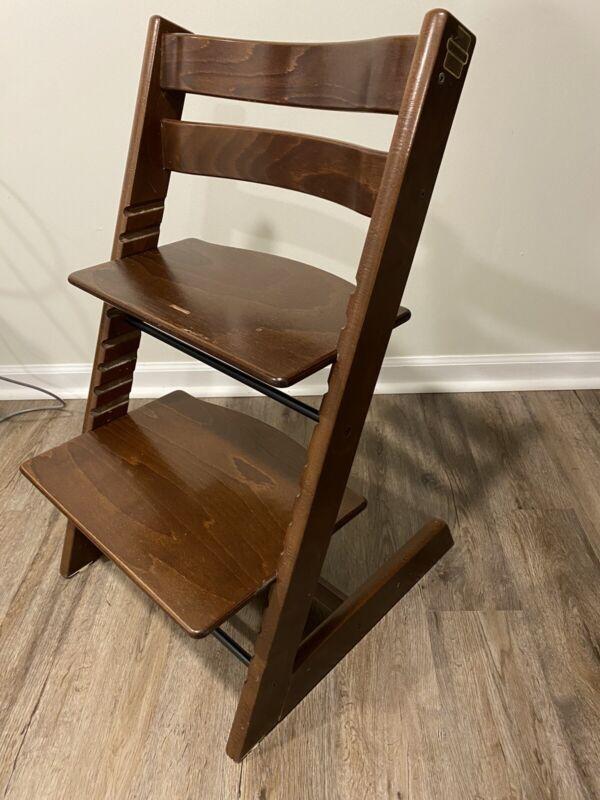 Stokke Tripp Trapp Comfortable Ergonomic Seat Baby High Chair Walnut Brown