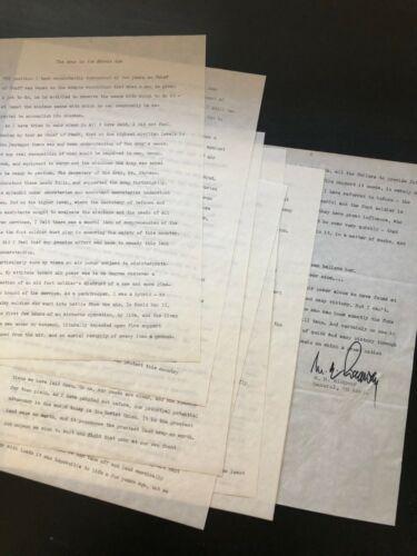 Manuscript & Autograph US General Ridgway, Aircraft use in Warfare, Korean War