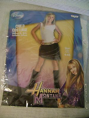 HALLOWEEN COSTUME Disney HANNAH MONTANA MILEY child size 4-6X DIVA Disco GIRL - Miley Halloween Costumes