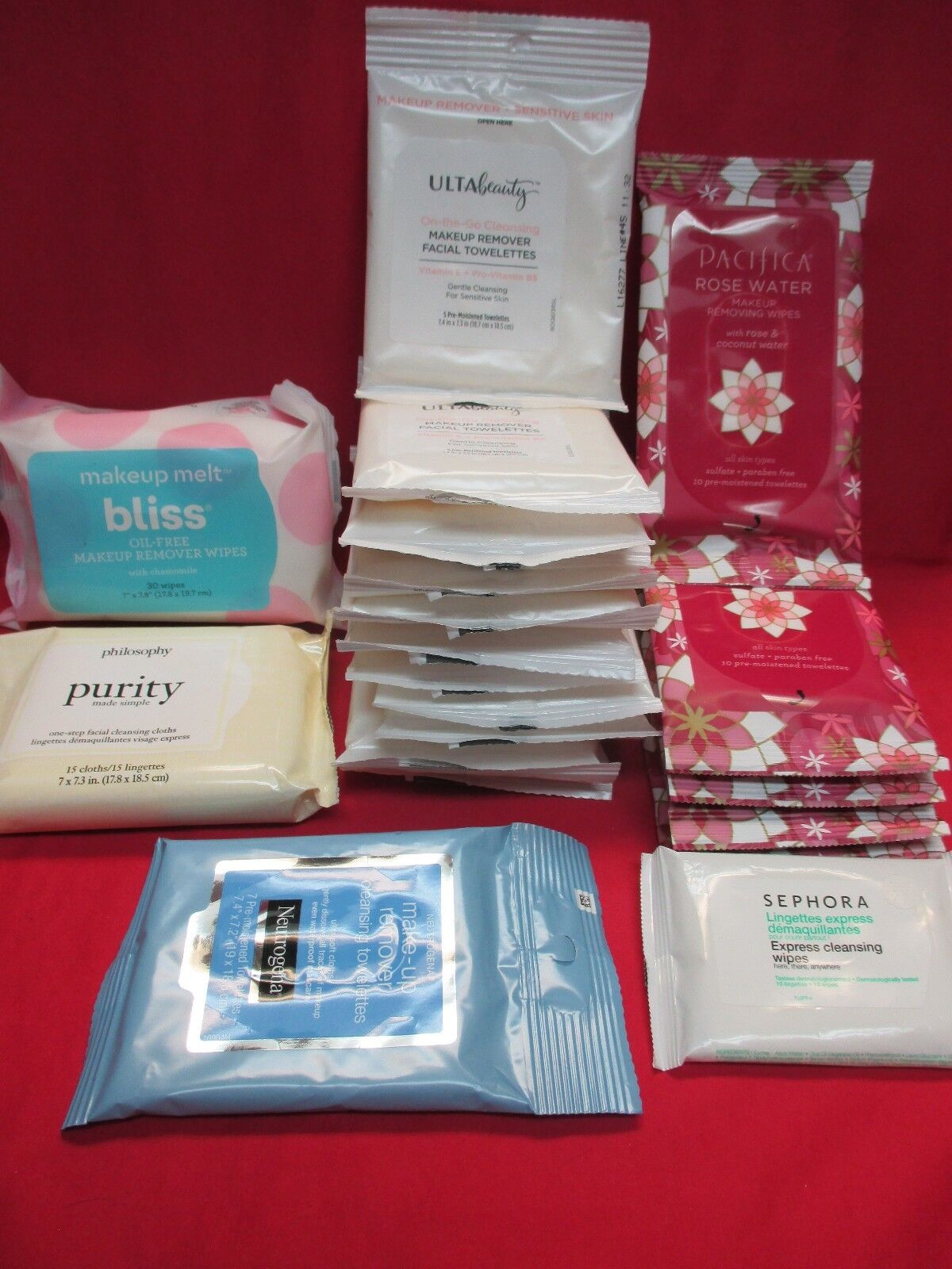 Makeup Remover Wipes Cloths Towelettes~Mixed Brands~Bliss~Pa