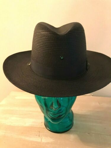 NEW SHERIFF -STRATTON SUMMER/ BLACK S42 STRAW HAT / POLICE HAT/MILITARY