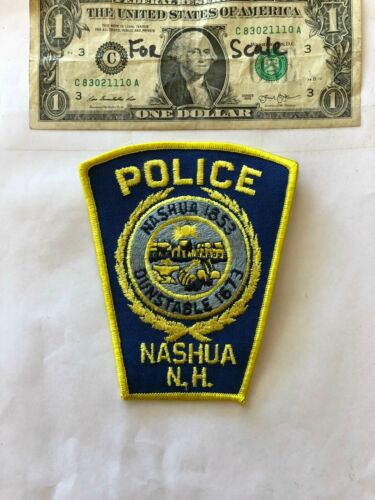 Nashua New Hampshire Police Patch un-sewn great shape