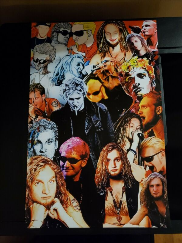 2 Layne Staley Original Artwork 11x17 Posters Alice In Chains