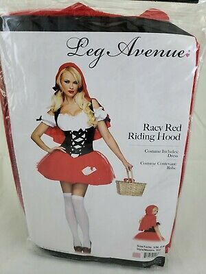 Leg Avenue Women's RACY RED RIDING HOOD Sexy Adult Red Dress Costume S/M - Racy Red Riding Hood Kostüm