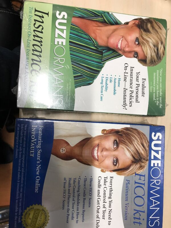 Suze Orman Platinum Fico Kit and Insurance Kit. 2 financial tools. New - sealed.