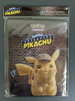 Pokemon TCG Detective Pikachu 9-Pocket Portfolio Album Binder - New Sealed