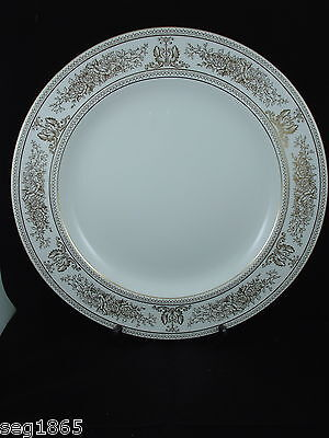 WEDGWOOD GOLD COLUMBIA CHOP PLATE / ROUND SERVING PLATTER Gold Chop Plate