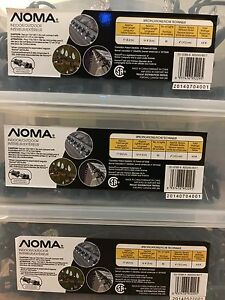 Noma C6 indoor outdoor quick clip 50 Christmas lights pure white