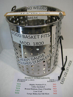 Food Basket Replacement Fits Broaster Mod.1800 All Stainless Steel. W Lifter
