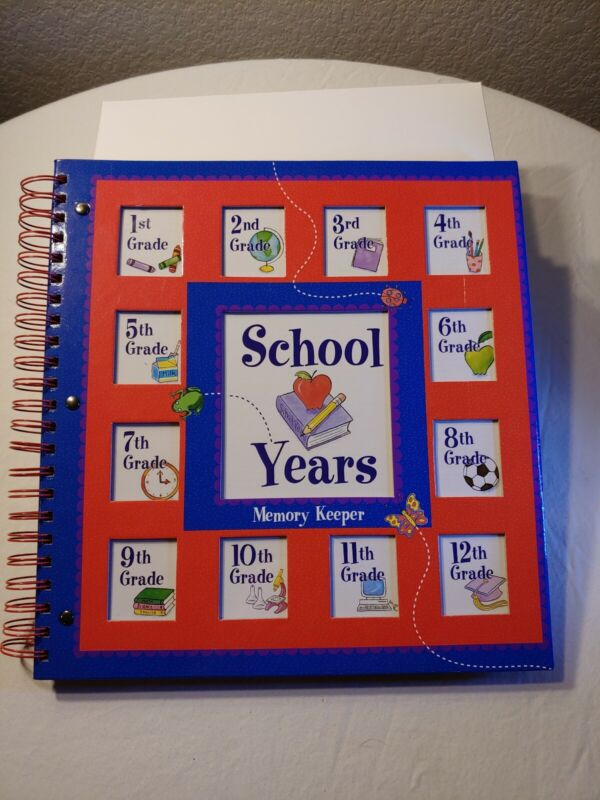 School Years Memory Book Keepsake Photo Album.  New, unused.