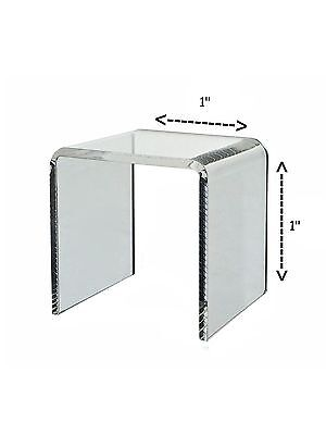Riser Clear Acrylic Cube Counter Jewelry Pedestal Display Stand 1 X 1 Qty 6
