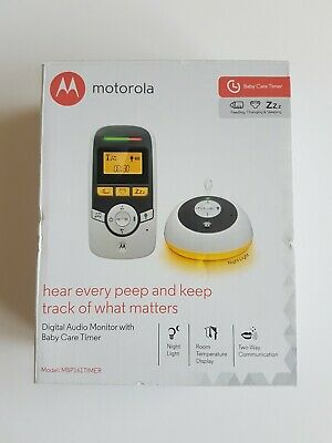 Motorola MBP161TIMER Digital Audio Baby Monitor with Baby Care Timer Night Light