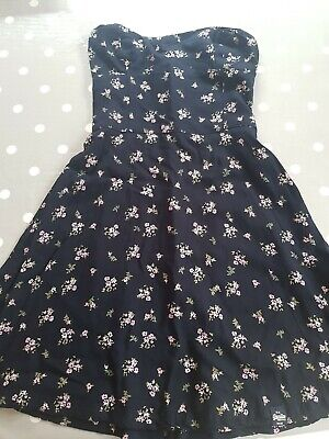 Floral Strapless Superdry Dress - Size XXS (size 6)