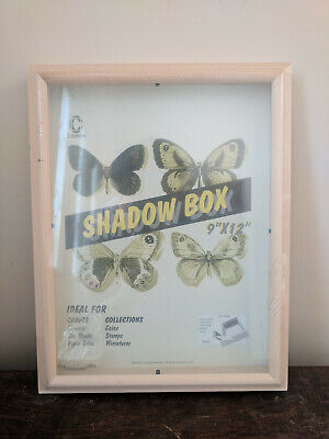 Unfinished Wood Shadow Box Display Case Picture Frame 9 x 12 New -