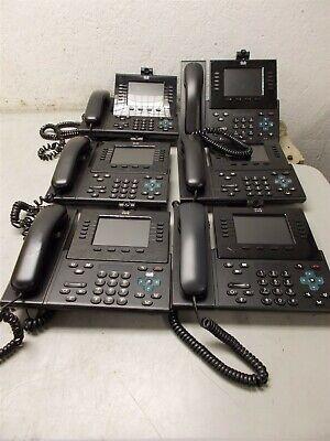 6 Cisco 9951 Ip Voip Phones