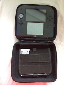 Nintendo 2Ds + Pokémon Moon, leather case Great condition
