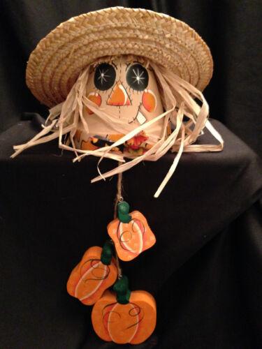 Scarecrow Terracotta Pot Halloween Decorative Fall Hanging Homemade Craft