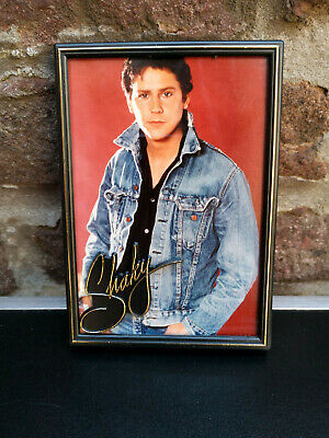 Rare Vintage 80's Shakin Stevens Photo Framed with Embossed name new old stock