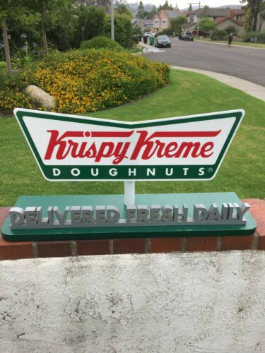 Vintage Krispy Kreme Counter Display Sign