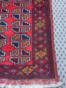 Small persian vintage rug 2 x 3.5 feet. Hand knotted