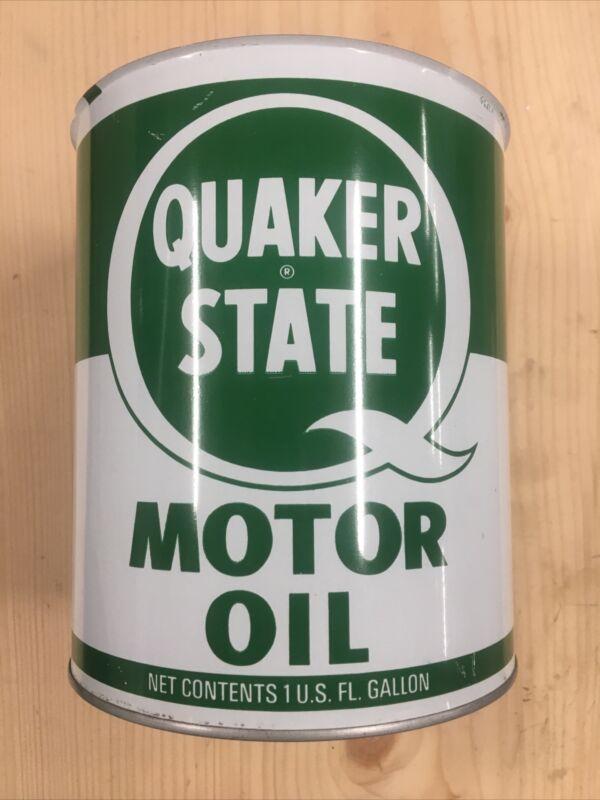 NOS Never Filled Vintage Quaker State Motor Oil Can 1 Gallon