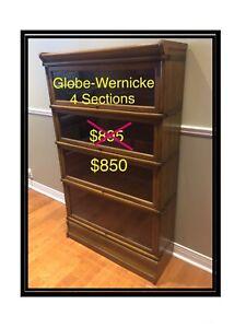 Antique Barrister Bookcase -4 Shelves-GlobeWernicke - Oak-Banded