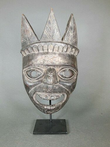 Antique Himalayan Mask, Nepal - With stand