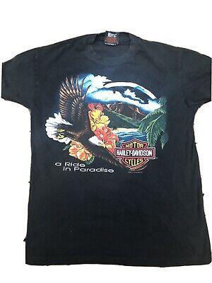 Vintage Harley Davidson T Shirt 1993 Jims Eagle Medium Florida