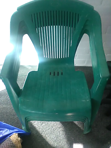 Plastic chairs green Newcastle East Newcastle Area Preview