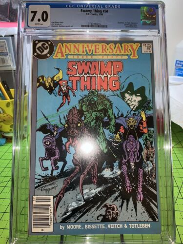 Swamp Thing #50 CGC 7.0 ~1st App Justice League Dark~ 1986 DC Comics! NEWSSTAND!