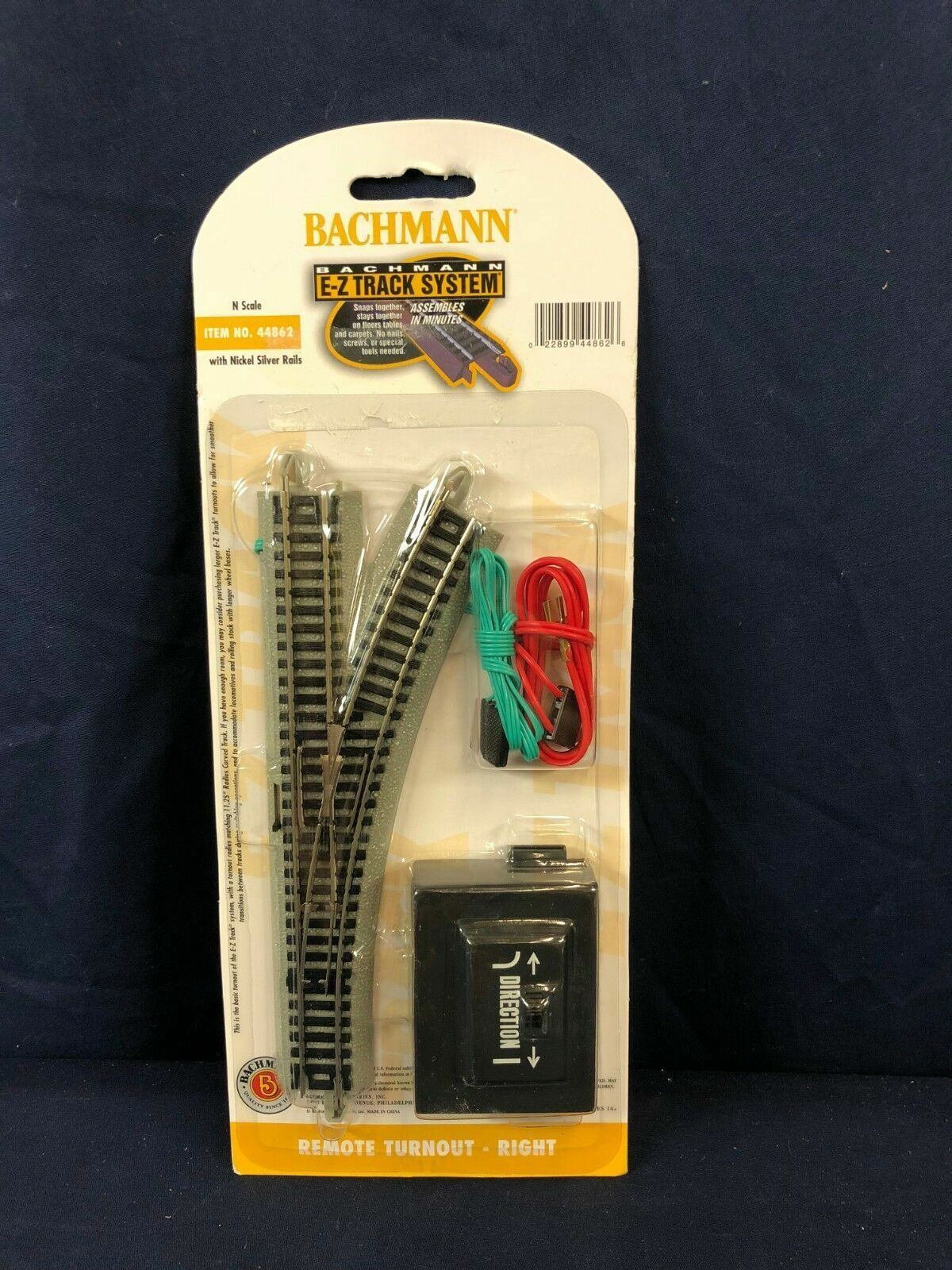 N Scale R//H Remote Turnout Nickel Silver E-Z Track BACHMANN New in Box 44862
