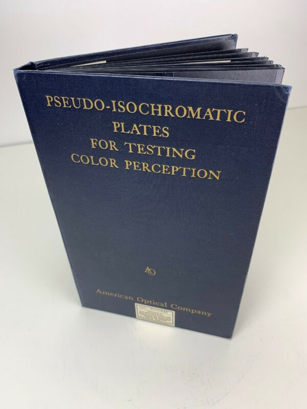 Antique Vintage Medical Pseudo Isochromatic Plates Testing Color Perception