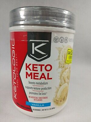 KetoLogic Fuel Your Best Keto Meal Replacement Vanilla 20 Servings Best by
