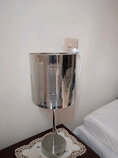 2 x City Skyline Lamps in Silver