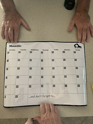 17x11 Refrigerator Magnetic Dry Erase Calendar Monthly Weekly Plan White Board