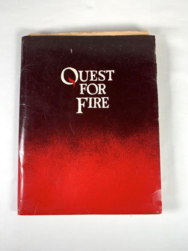 Quest For Fire Vintage Rare Press Kit 1981 Movie Memorabilia Ron Perlman Photos