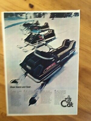 1970 CANADIAN AD CANADA SKIDOO SNOWMOBILE SLED ARCTIC CAT 4 MODELS