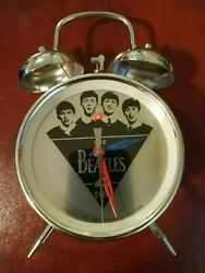 Vintage THE BEATLES 1988  APPLE CORP.LIMITED key wound alarm clock  Rare